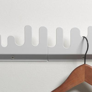 Wave Hanger, Set Of 2, White