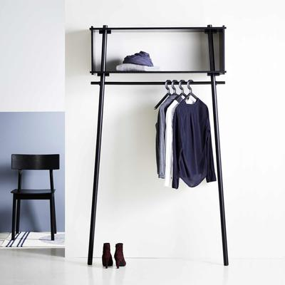 Töjbox Clothing Rack & Shelf, Large, Black