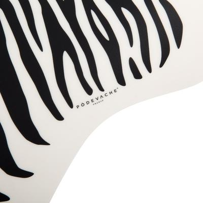 Vinyl Carpet, Zebra White