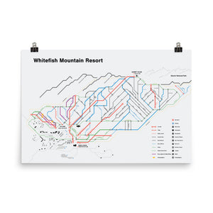 Whitefish Mountain Subway-Style Trail Map