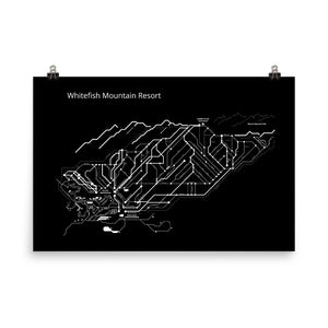 Whitefish Subway Map - BLACK EDITION