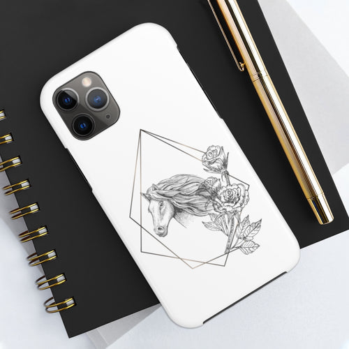 Phone Case Geometric Floral Horse Tough Phone Case