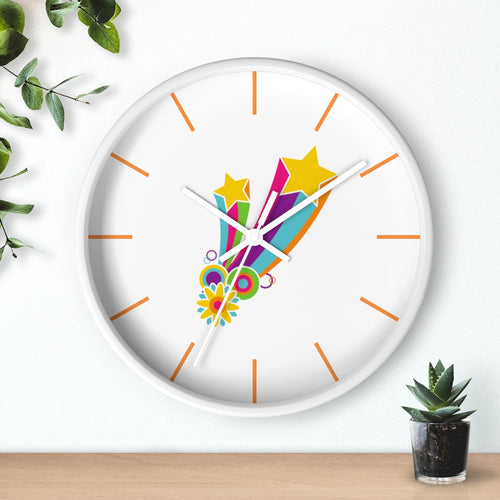 Flower Power Hippie Wall clock