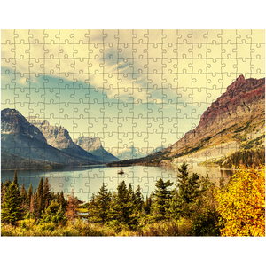 Puzzle, Lake Mountain Puzzle, Scenic Puzzle, Gifts, Outdoors