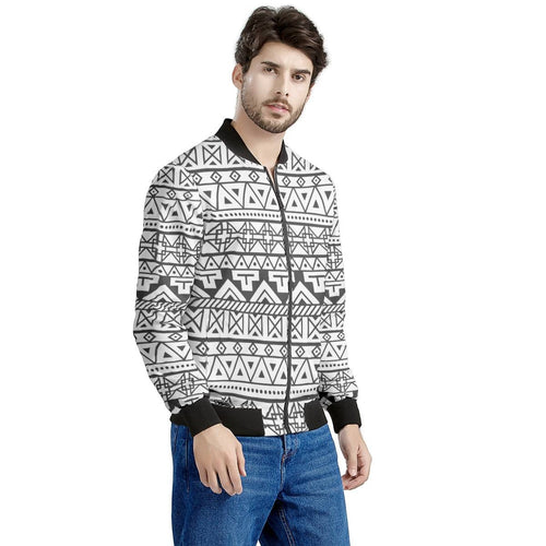 Men's Thick Bomber Jacket, Southwester Print