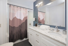 Load image into Gallery viewer, Shower Curtains Boho, Southwestern Mountain Scene