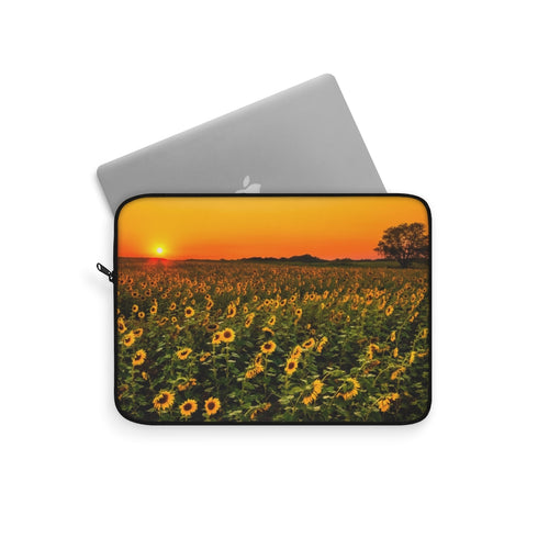 Laptop Sleeve | Computer Case | Sunflower Fields, Electronic Case | Computer Accessory Case, Computer Sleeve