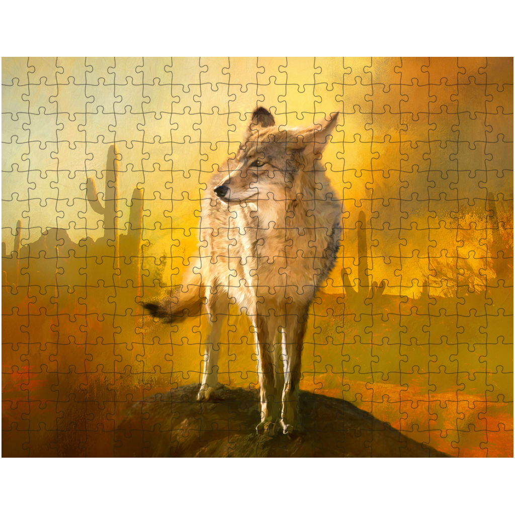 Jigsaw Puzzle, Wolf Desert Puzzle, Games, Family Fun, Puzzles