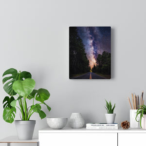Canvas Print, Starry Night, Road, Wall Art Canvas, Wall Decor, Wall Hanging