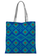 Load image into Gallery viewer, Blue Aztec Sublimation Tote Bag