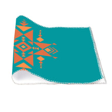 Load image into Gallery viewer, Four-piece Placemats, Southwest Turquoise