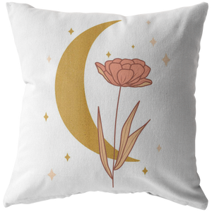 Accent Pillow, Moon Flower Throw Pillow