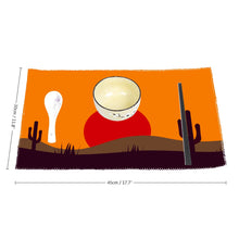 Load image into Gallery viewer, Four-piece Placemats, Desert Scene