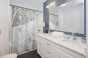Eclectic Shower Curtain, Bathroom Decor