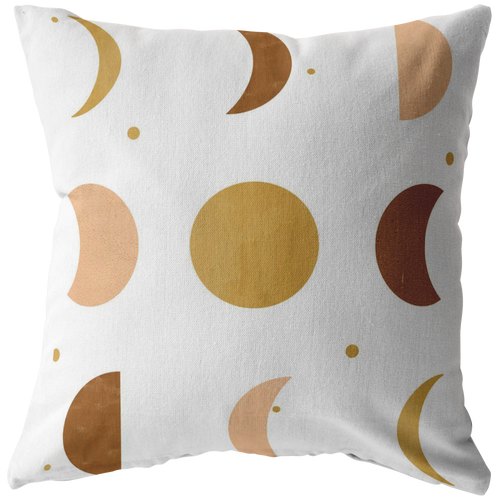 Celestial Moon Phases Accent Pillow