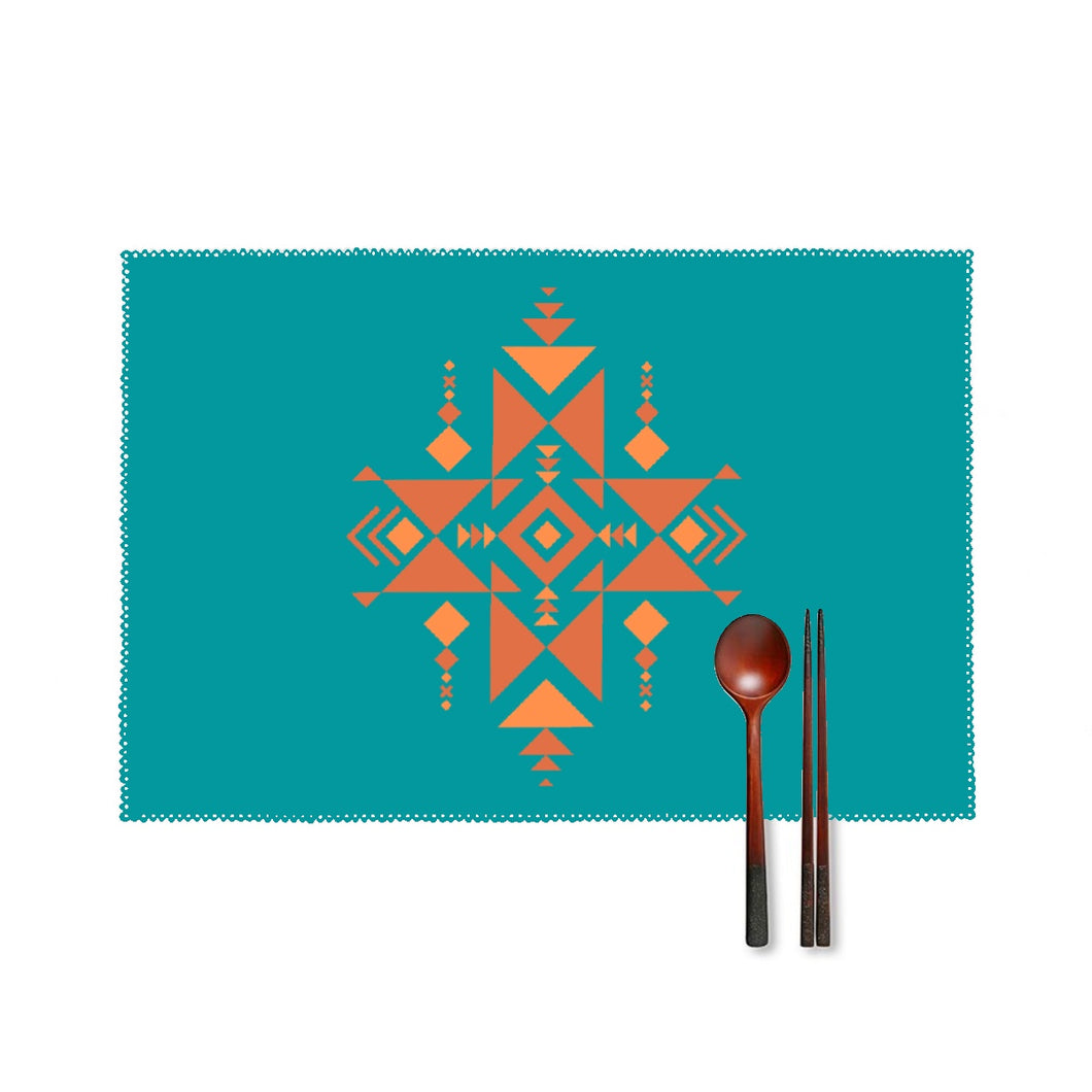 Four-piece Placemats, Southwest Turquoise