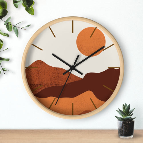 Wall Clock, Clocks, Midwest, Desert Theme, Wooden Clock, Time, Wall Decor