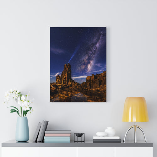 Canvas Wall Art, Desert Night Sky, Wall Art Canvas, Wall Decor, Midwest