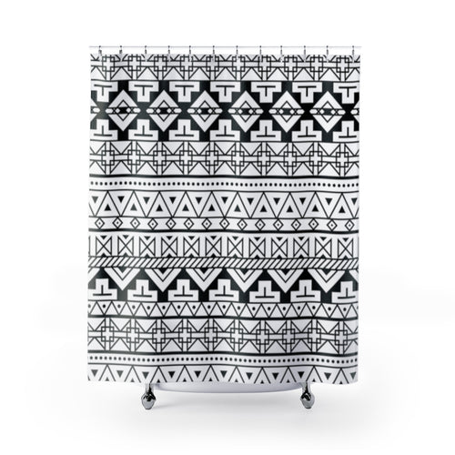 Aztec Print Shower Curtain | Southwestern Bathroom Decor