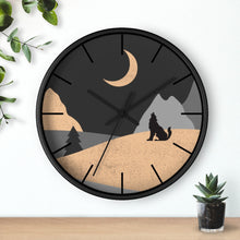 Load image into Gallery viewer, Wall Clock, Howling Moon Rustic Theme