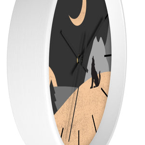 Wall Clock, Howling Moon Rustic Theme