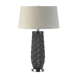 Table Lamps, Lighting, Tao Charcoal Prism Table Lamp, Modern