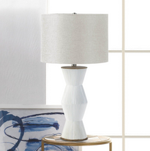 Load image into Gallery viewer, Table Lamp, Gable White Ridges Table Lamp, Home Decor, Modern