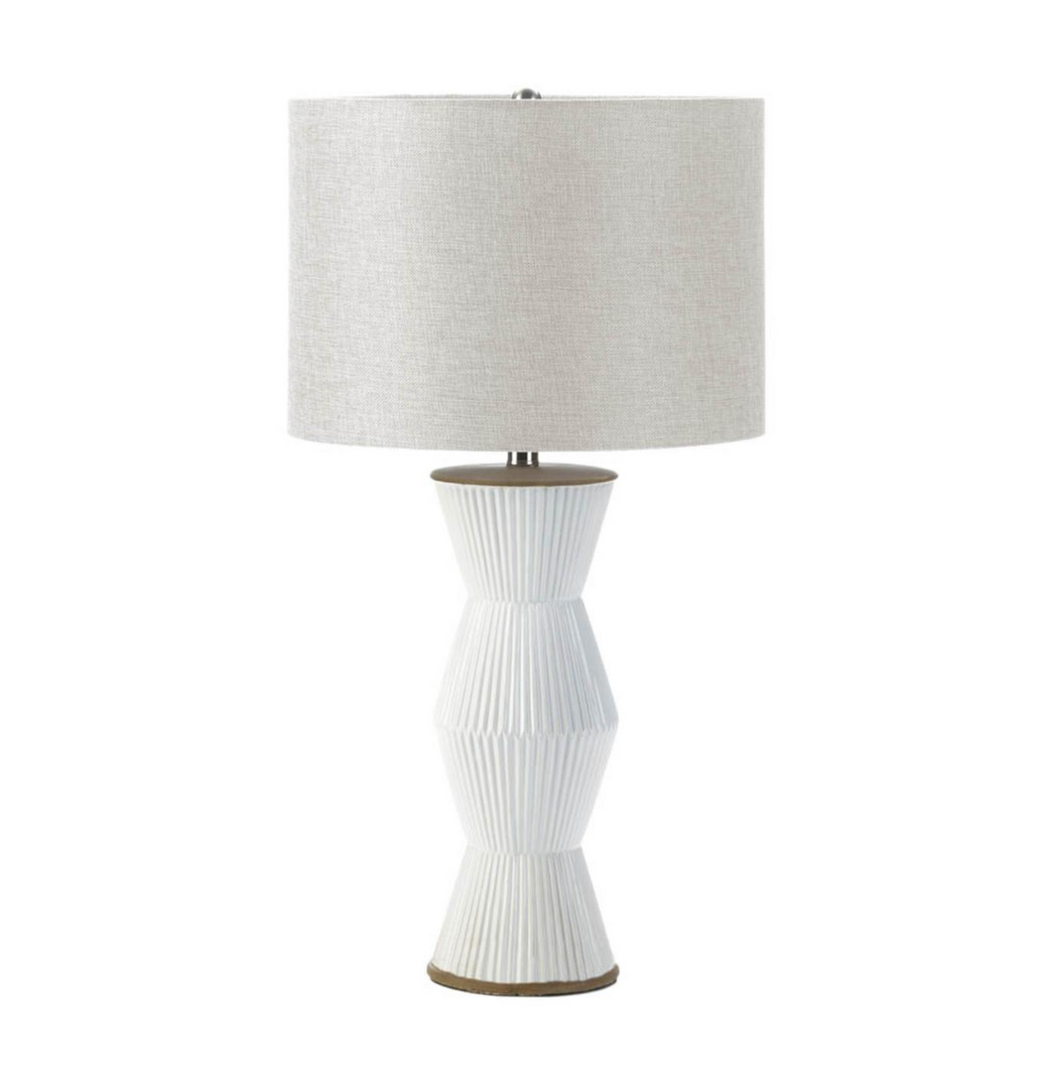 Table Lamp, Gable White Ridges Table Lamp, Home Decor, Modern