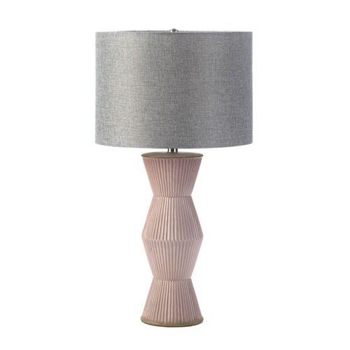 Copy of Table Lamp, Gable Pink Ridges Table Lamp, Home Decor, Modern