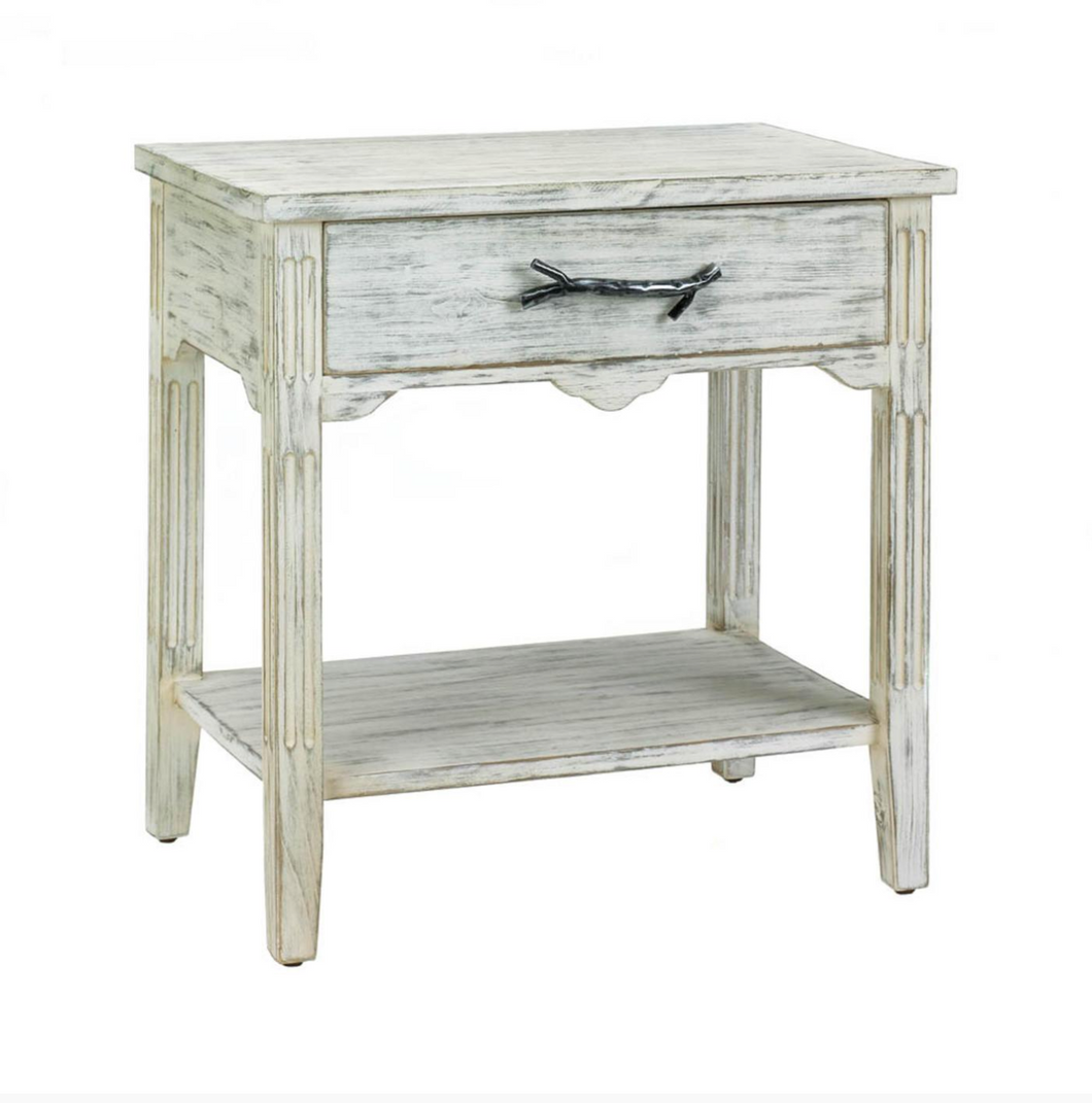 Side Table, Pawley Wood End Table Accent Table