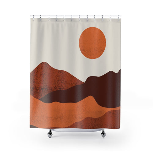 Shower Curtain, Organic Desert, Midwest, Fabric Shower Curtain, Bathroom Curtains