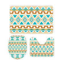 Load image into Gallery viewer, Three-piece Floor Mats for Bathroom, Southwestern Design