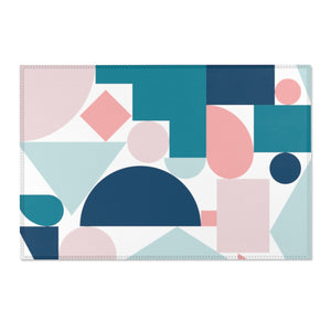 Area Rugs Pastel Retro Abstract Design
