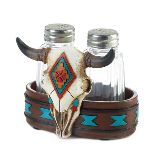 Salt & Pepper Shakers, Bison Skull Salt & Pepper Shakers, Western Home