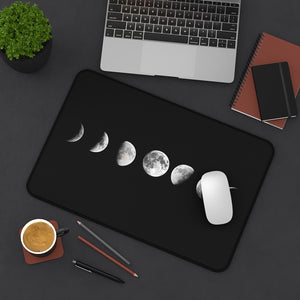 Desk Mat, Office Accessories, Moon Phases, Celestial, Office Decor, Computer Accessories