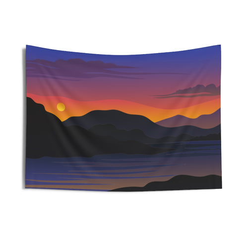Wall Tapestry, Scenic Sunset Wall Hanging, Tapestries, Wall Decor