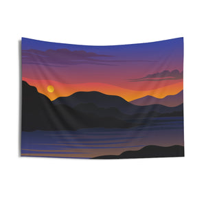 Wall Tapestry, Scenic Sunset Wall Hanging