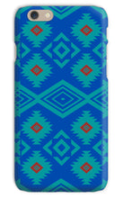 Load image into Gallery viewer, Blue Aztec Phone Case