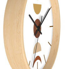 Load image into Gallery viewer, Wall Clock, Clocks, Moon Faces, Organic Theme, Wooden Clock, Time, Wall Decor