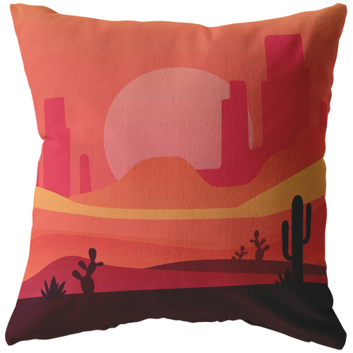 Desert Scene Accent Pillow