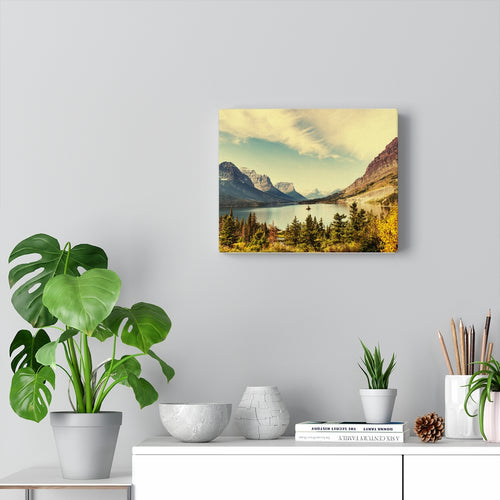 Canvas, Mountain Lake Scenic Art, Wall Art Canvas, Wall Decor, Home Decor