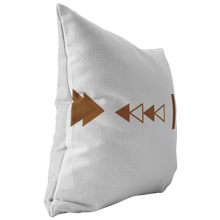 Load image into Gallery viewer, Accent Pillow, Geo Triangle Terra Cotta Brown & White