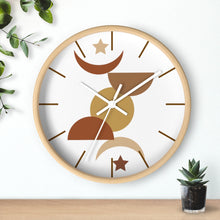 Load image into Gallery viewer, Wall Clock, Clocks, Desert, Organic Theme, Wooden Clock, Time, Wall Decor, Midwest, Wood, Plexiglass, Decor, Home Decor, Gifts