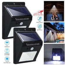 Load image into Gallery viewer, Waterproof LED Solar Motion Sensor Wall Light
