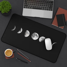 Load image into Gallery viewer, Desk Mat, Office Accessories, Moon Phases, Celestial, Office Decor, Computer Accessories