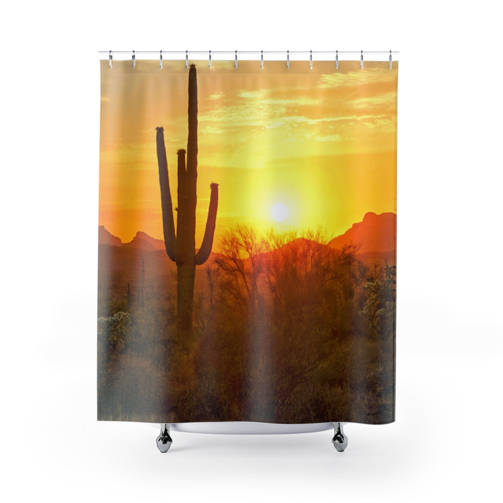 Shower Curtain, Desert Scene, Bathroom Decor
