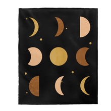 Load image into Gallery viewer, Soft Blanket, Christmas Gifts, Gifts, Velveteen Plush Blanket, Throw Blanket, Moon Phases, Throw Blanket Couch, Blankets & Throws