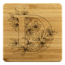 Load image into Gallery viewer, Coasters, Wooden Coasters, Family Initial - D Coasters, Gifts, Christmas Gift