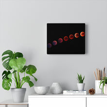 Load image into Gallery viewer, Wall Art Canvas, Red Moon Phases, Wall Art, Wall Decor, Canvas Print, Space Print