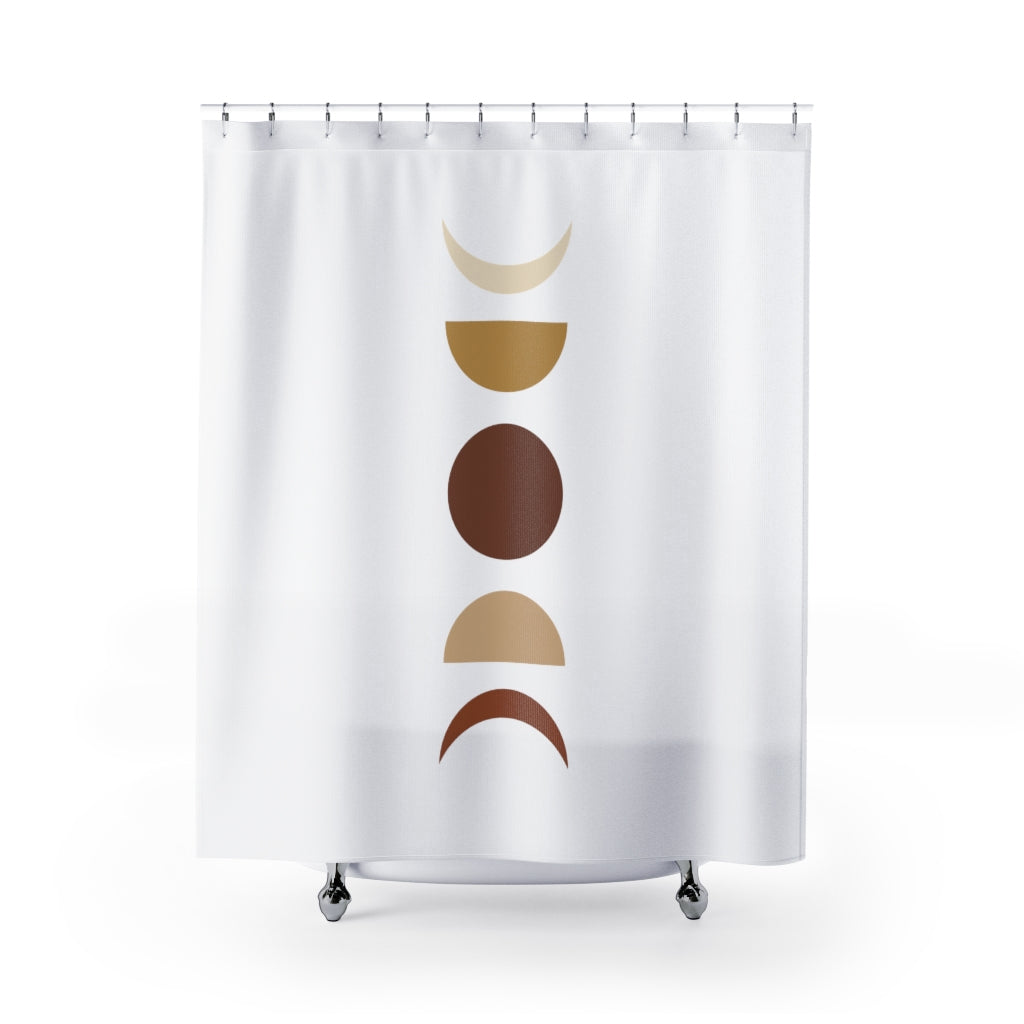 Shower Curtain, Organic Moon Phases, Midwest, Fabric Shower Curtain, Bathroom Curtains